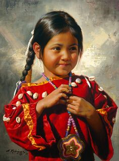 alfredo rodriguez american indian art - Page 2 Native American Children, Native American Beauty, American Indian Art, American Indians, American Girl, Native American Paintings, Native American Pictures, Indian Pictures, Native Indian