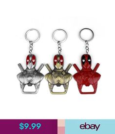 Barware Deadpool Keychain Beer Bottle Opener Key Rings Chain For Fan Souvenirs Men Gift #ebay #Home & Garden