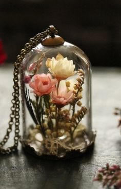 Real flower locket, gifts for her , living locket , shadow box , Irish jewellery , real plant pendant , dried flowers, moss terrarium