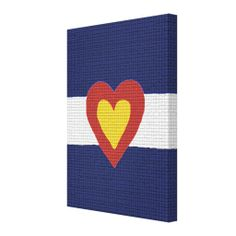 Heart Colorado Flag Canvas Wall Art Canvas Prints from Zazzle.com