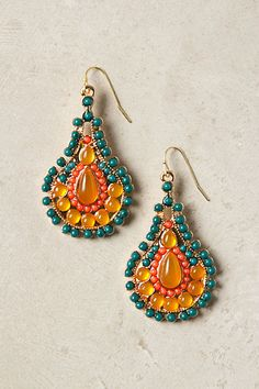 Jewelled earrings   #anthropologie
