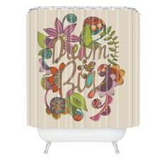 Amazon Com Deny Designs Valentina Ramos Always Dream Big Shower Curtain 70 By 90 Home Kitchen Big Shower Shower Curtain Curtains