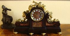 Louis XVI Pendule Charpentier Paris Boulle Uhr Historismus 1860 Intarsie Bronze