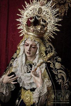 SPAIN / ANDALUSIA / Mater Dolorosa - Maria Santisima Madre de Dios, obra de Israel Cornejo, para la cofradia del Silencio de Jaén.