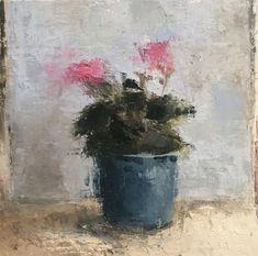 Still Life Be Still, Still Life, Oil On Canvas, Flora, Sky, Landscape, Frame, Nature, Handmade