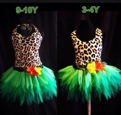 Childrens Katy Perry Roar Costume Jungle Tutu Green by tutufactory, $39.00