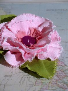 fabric flower broach