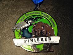 Half Marathon Triple Crown Challenge Medal 2016 in New York - 2016 bling photos - half marathon medal photos taken by Fifty States Half Marathon Club members www.50stateshalfmarathonclub.com