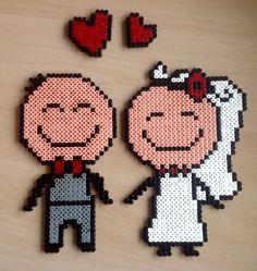 Wedding hama beads by Majken Skjølstrup