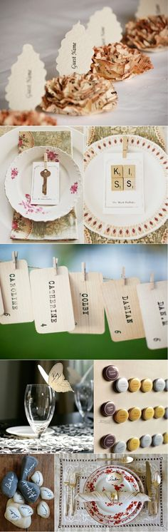 Breathtaking Vintage/quirky Place Card ideas!