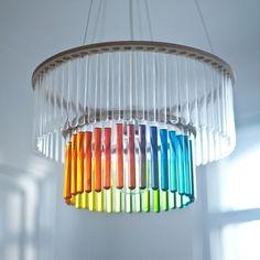 Lampe aus Reagenzgläsern | EYE LIKE