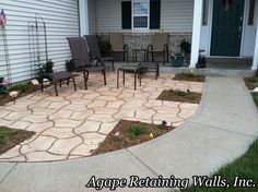 Front Yard Patio. (Small Patio Step)