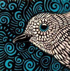 white bird by kukka