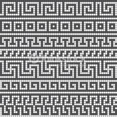 vector seamless pattern with classic Greek meander ornament