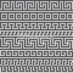 meander: Vector seamless pattern with classic greek meander ornament – Mosaic Knitting Charts, Knitting Stitches, Knitting Patterns, Crochet Patterns, Sock Knitting, Knitting Tutorials, Vintage Knitting, Free Knitting, Crochet Motifs