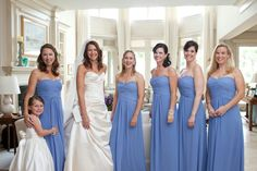 Love the color on bridesmaids