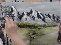 Emerald Lake By Snowy Mountains In The Winter - Bob Ross Inspired, Acrylic Painting Timelapse - - Emerald Lake By Snowy Mountains In The Winter – Bob Ross Inspired, Acrylic Painting Timelapse Vorlagen Berglandschaft. Bob Ross Painting Videos, Bob Ross Paintings, Fantasy Paintings, Landscape Paintings, Landscape Fabric, Peintures Bob Ross, Mountain Paintings, Painting Of Mountains, Snowy Mountains