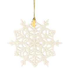 2015 Snow Fantasies Snowflake Ornament By Lenox. Could be a cute bridesmaids gift!