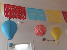 Happy Birthday Garland with NAME Personalized by Vintagebabydoll