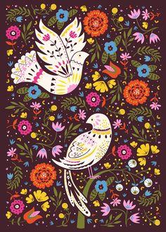 White Winged Doves by Paula McGloin, via Behance