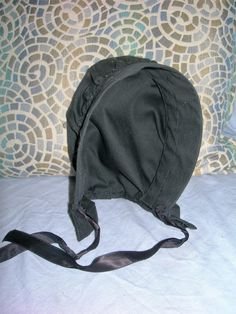 8e943e4458a Black Cotton Amish Hat For dolls