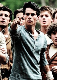 Dylan O'Brien in 'The Maze Runner'!