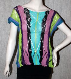 Sprang top cotton yarn.