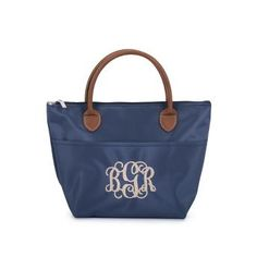 Embroidered Navy Essential Lunch Tote , Add a Monogram, Name or Initials