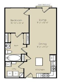 Small Casita Floor Plans | Dallas TX Times Square Apartments Floor Plan
