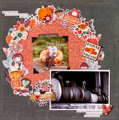 Check out how Kim uses up LOTS of Simple Stories' Forever Fall elements on a scrapbooking page using our December Sketchy Challenge! Scrapbook Sketches, Scrapbook Layouts, Page Protectors, Simple Stories, Fall Collections, Alter, December, Challenges, Paper Crafts