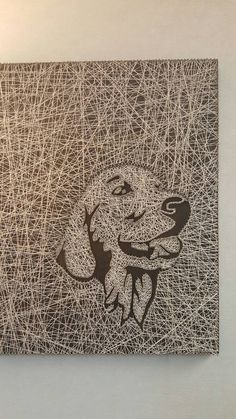 Golden Retriever String Art by PawtiqueCollars on Etsy