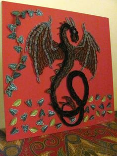 Quilled Dragon  made by Paula Hogue