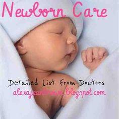 Alexa Jean: Newborn Care // Amazing List from Doctors