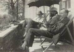 Francis Birrell (left) with Lytton Strachey & Saxon Arnold Sydney-Turner, by an unknown photographer Source: National Portrait Gallery. Clive Bell, Charlton House, Love's Labour's Lost, Maynard Keynes, Duncan Grant, Bloomsbury Group, English Writers, Many Men, National Portrait Gallery