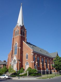 St. Francis Xavier Church, Petoskey, Michigan Possibly a church to get married in, I am in love!!