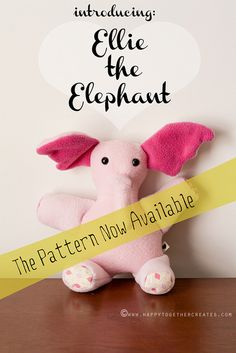 Ellie the Elephant Pattern Now Available by ohsohappytogether, via Flickr