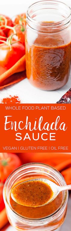 SIMPLE enchilada sauce | delicious and Healthy | whole food plant based, gluten free, oil free, refined sugar free, sauce