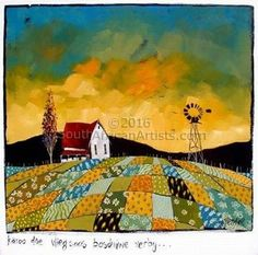 Farm Landscape Art Artists Ideas For 2019 Canvas Painting Landscape, Artist Painting, Landscape Art, Basic Painting, Landscape Illustration, Illustration Art, Minimal Drawings, Fantasy Paintings, Portrait Paintings