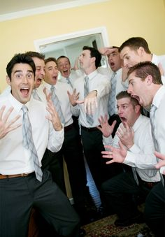 Hilarious Groomsmen Photo. I seriously would have the biggest copy I could get if my fiance were to do this for a wedding photo. I love it!