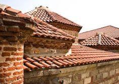 Terra cotta tile roofs in Vranje, Serbia