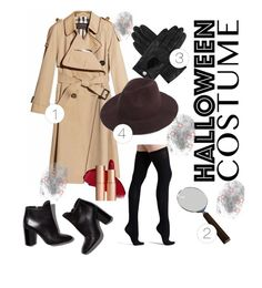 """""""DIY: DETECTIVE"""" by nocryinginfashion ❤ liked on Polyvore featuring Burberry, Commando, Pierre Hardy, Cedes, Dents, FingerPrint Jewellry, halloweencostume and DIYHalloween"""