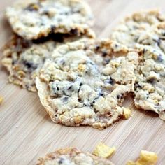 Momofuku Milk Bar Cornflake cookies adorned with sweet chocolate chips, soft marshmallows and crunchy cornflake clusters.