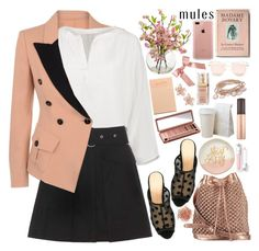 """Slip 'Em On: Mules"" by martinabb ❤ liked on Polyvore featuring NAKAMOL, Moschino Cheap & Chic, Acne Studios, Charlotte Olympia, nooki design, Urban Decay, Slant, Belkin, Quay and Elizabeth Arden"
