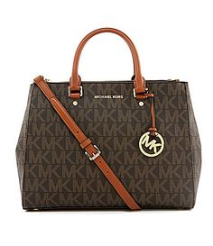 a72deb232e4e MICHAEL Michael Kors Signature Sutton Large Convertible Satchel #Dillards
