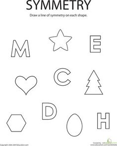 Symmetry Worksheet (for Kids) | Maths for Kids | Pinterest | Learn ...