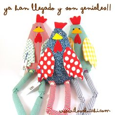 Fabric chickens from Green Family Farm!