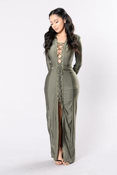 Freak 'Em Dress - Olive