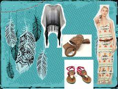 dress denim & supply by ralph lauren  poncho superstar accessorize belt grendha flip flops