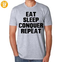 Eat Sleep Conquer Repeat XXL Herren T-Shirt (*Partner-Link)