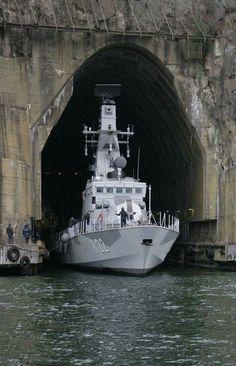 Swedish Navy corvette HMS Gävle (K22) in Muskö naval base https://en.wikipedia.org/wiki/G%C3%B6teborg-class_corvette
